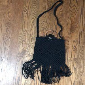 Danielle Nicole macrame fringed bag - NWT